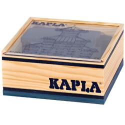 KAPLA color, azul oscuro - 40 placas de madera