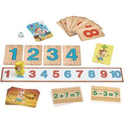 Los números piratas - Juego de sumar y restar para 2  jugadores