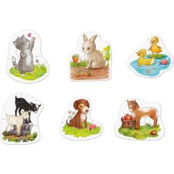 6 Primeros puzzles - Crías de animales