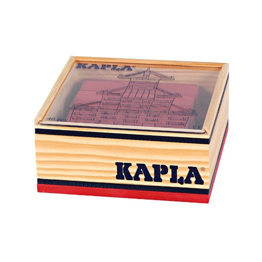 KAPLA color rojo - 40 placas de madera