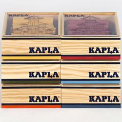 KAPLA color rojo - 40 placas de madera