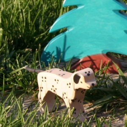 Dalmata - animal de madera