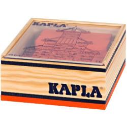 KAPLA color naranja - 40 placas de madera