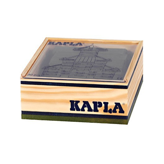 KAPLA color verde - 40 placas de madera