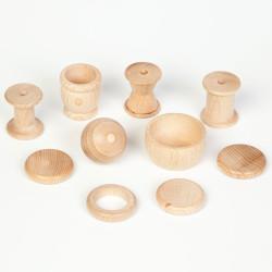 10 piezas de madera para la cesta de los tesoros