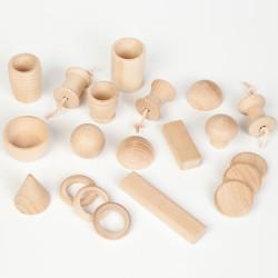 20 piezas de madera para la cesta de los tesoros