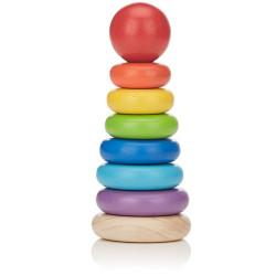 Anillos ensartables - juguete apilable de madera