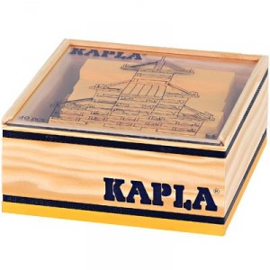 KAPLA color amarillo - 40 placas de madera