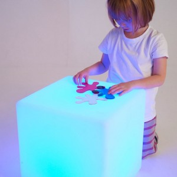 Cubo Sensorial Iluminado 40x40
