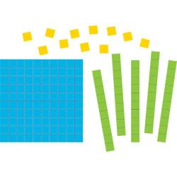 Base 10 piezas recortables de cartón 2D -  Set de conceptos numéricos uso individual