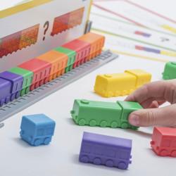 Locomotoras enlazables para hacer secuencias - juego de matemáticas para 1-4 jugadores