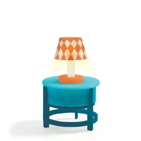 Lámpara sobre mesa - Casita de muñecas