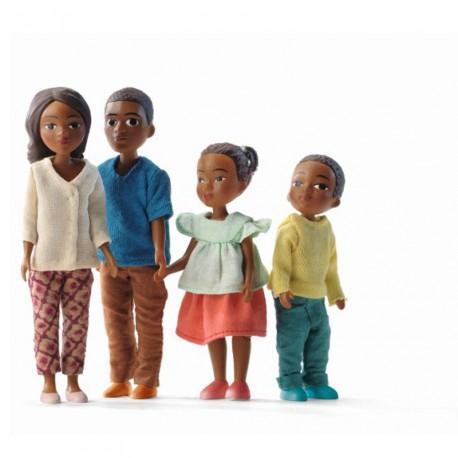 Familia de casas de muñecas milo y Mila