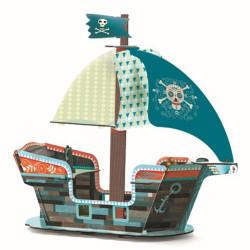 Barco Pirata 3-D plegable