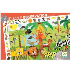 Puzzle observación La jungla - 35 pzas.