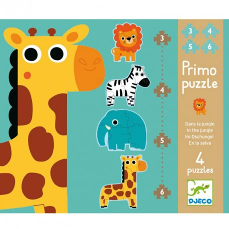 Primo Puzzle - 3 puzzles de 4, 6 y 9 piezas