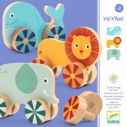 Vis'n'Roll -  animales de madera para atornillar