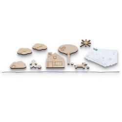 El Juego del Espejo - Juego de madera de construcción de reflejos