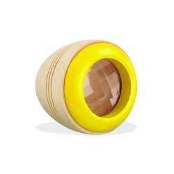 Ojo Espía - Caleidoscopio de madera - AMARILLO