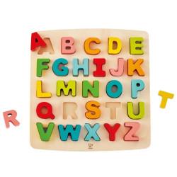 Puzzle encajable de madera Abecedario Mayúsculas - 26 pzas.