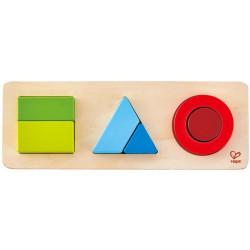 Puzzle encajable de madera Geometría - 2 niveles
