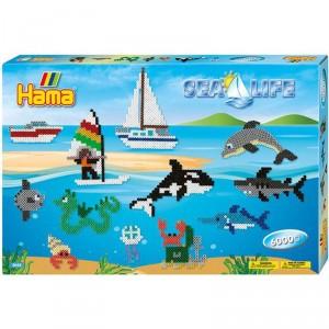Caja regalo La vida en el mar - 6000 perlas Hama