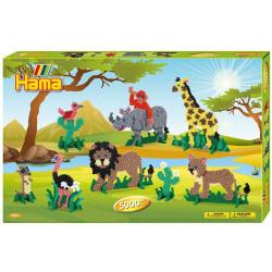 Caja regalo Safari - 5000 perlas Hama