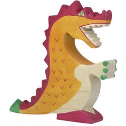 Dragón Rojo - animal mitológico de madera