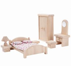 Habitación Clásica de madera para casa de muñecas