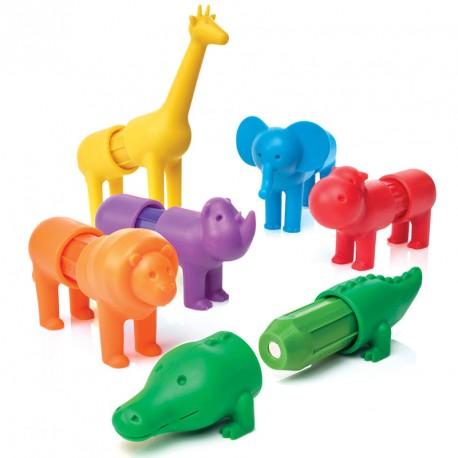 SmartMax Els meus primers Animals de Safari - joc de construcció magnètic 18 pces.s.