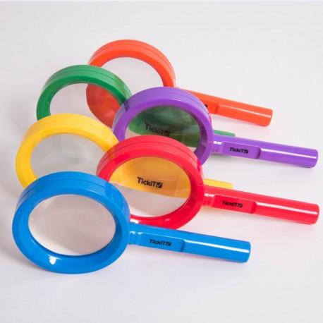 Lupa en colores arco iris - 6 unidades
