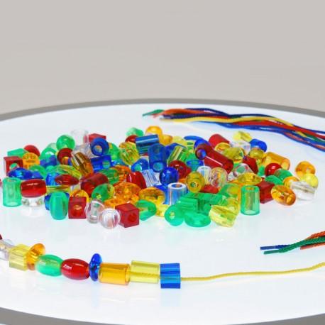 Perles translúcides 20 mm per enfilar - 180 u.