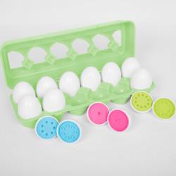 Docena de huevos para contar, clasificar y emparejar - Colores