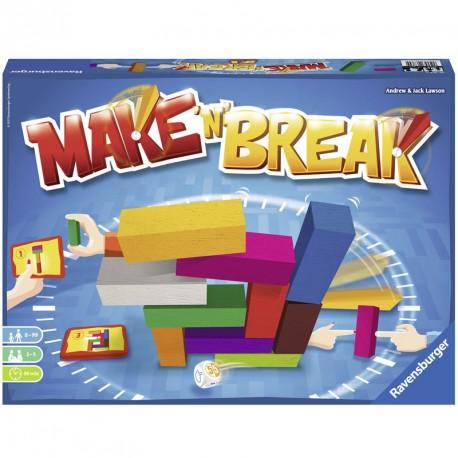 Make'n'Break - juego de mesa de construcción de madera para 2-5 jugadores