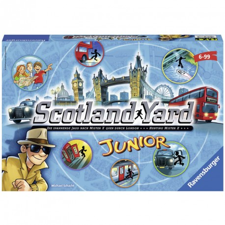 Scotland Yard Junior- juego de mesa comunicativo para 2-4 jugadores