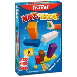 Make'n'Break Travel - juego de viaje de construcción de madera para 2-4 jugadores