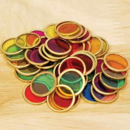 Cèrcols magnètics de colors transparents, 100 unitats