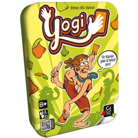 Yogi - retorcido juego de cartas y posturas