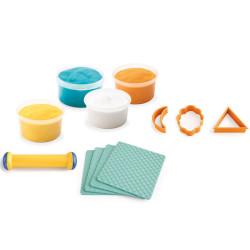 Plastilina y estuche con accesorios - Huellas y formas
