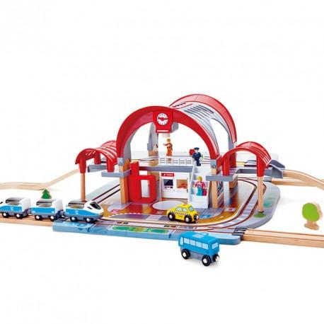 Estación de tren Gran Ciudad - circuito tren de madera