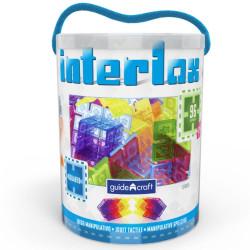 Interlox 96 piezas translúcidas - juguete de construcción para peques