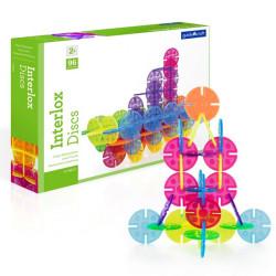 Interlox 96 piezas circulares translúcidas - juguete de construcción para peques