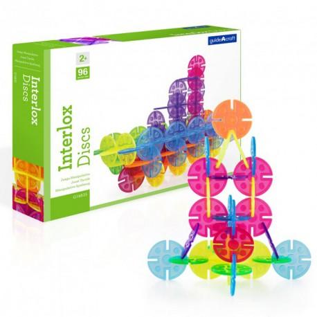 Interlox 96 peces rodones transparents - joguina de construcció per a peques