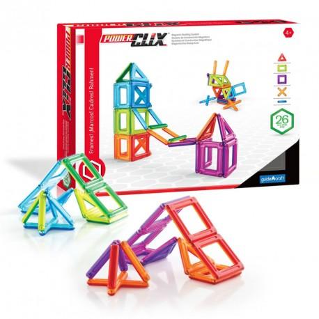 *PowerClix marcs 26 peces imantades transparents - joguina de formes geomètriques