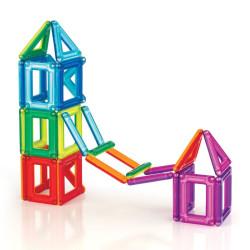PowerClix marcos 26 piezas imantadas traslúcidas - juguete de formas geométricas