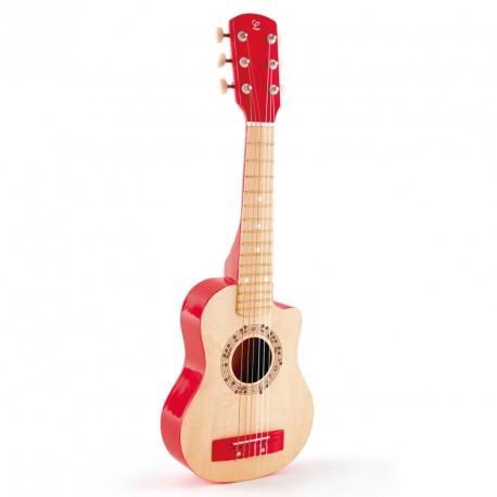 Guitarra Clásica con madera de color natural y rojo