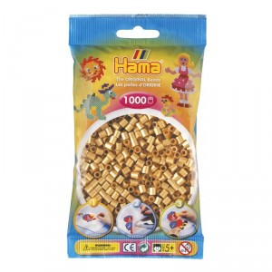 1000 perlas Hama de color dorado (bolsa)