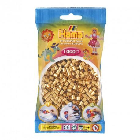 1000 perles Hama de color daurat (bossa)