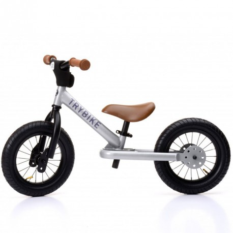 Bici Trybike Steel Gris plateado - bicicleta de acero sin pedales