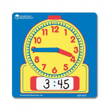 Set 10 Relojes demostración analógico-digital para el aula